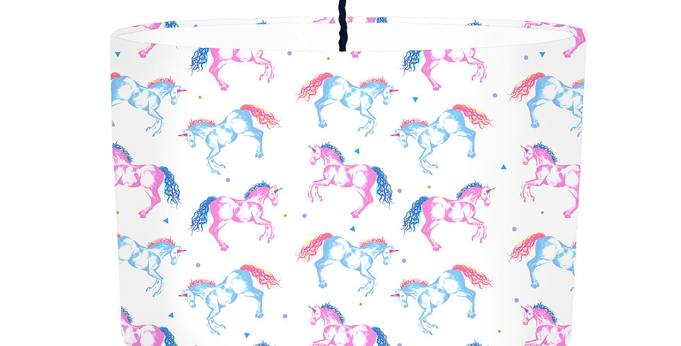 Unicorn Lampshade - White Lining