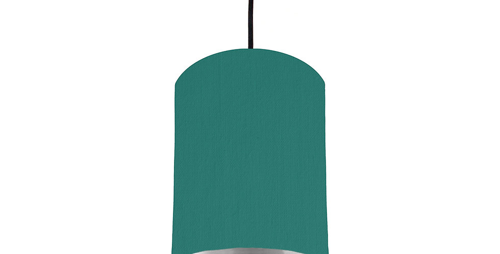 Jade & Silver Mirrored Lampshade - 15cm Wide