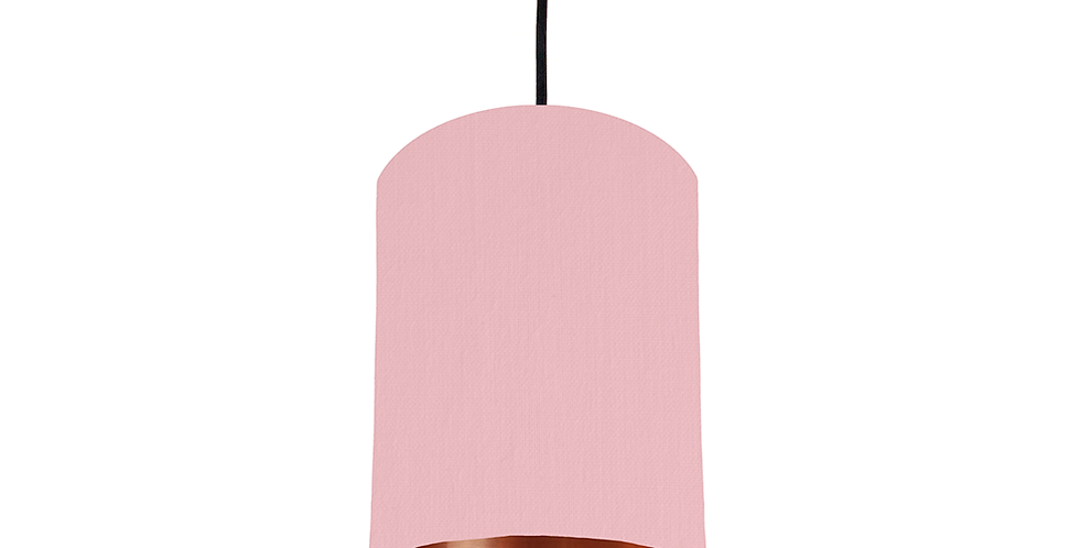 Pink & Copper Mirrored Lampshade - 15cm Wide
