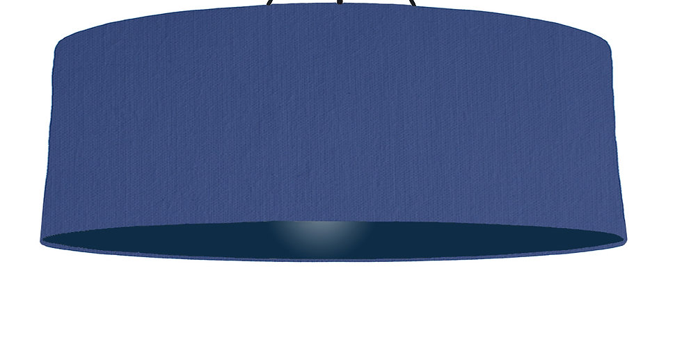 Royal Blue & Navy Lampshade - 100cm Wide