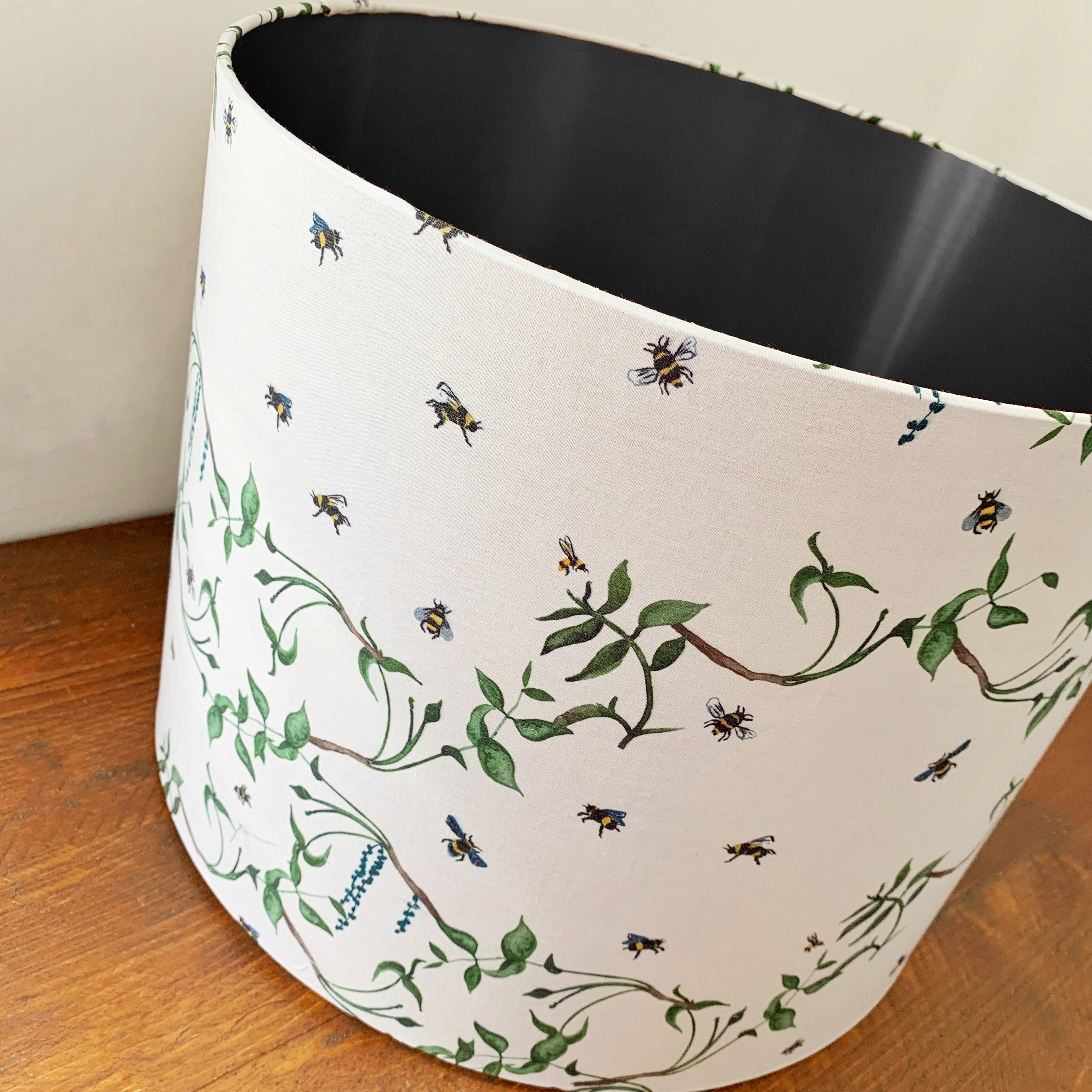 Black busy bee lampshade