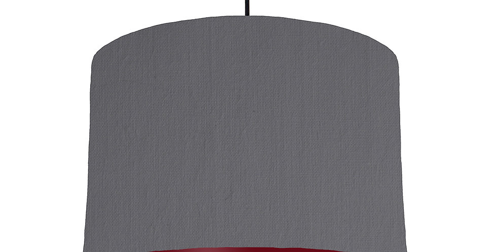 Dark Grey & Burgundy Lampshade - 30cm Wide