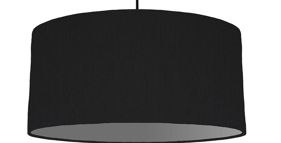 Black & Dark Grey Lampshade - 60cm Wide