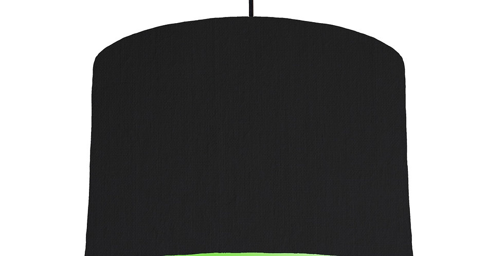 Black & Lime Green Lampshade - 30cm Wide