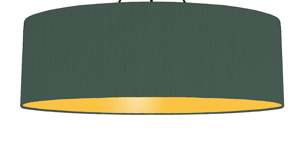 Bottle Green & Butter Yellow Lampshade - 100cm Wide
