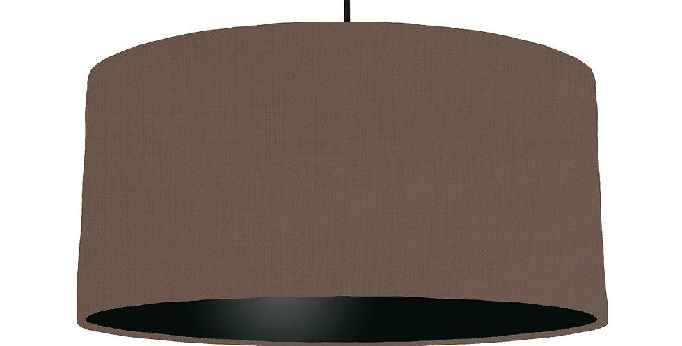 Brown & Black Lampshade - 60cm Wide
