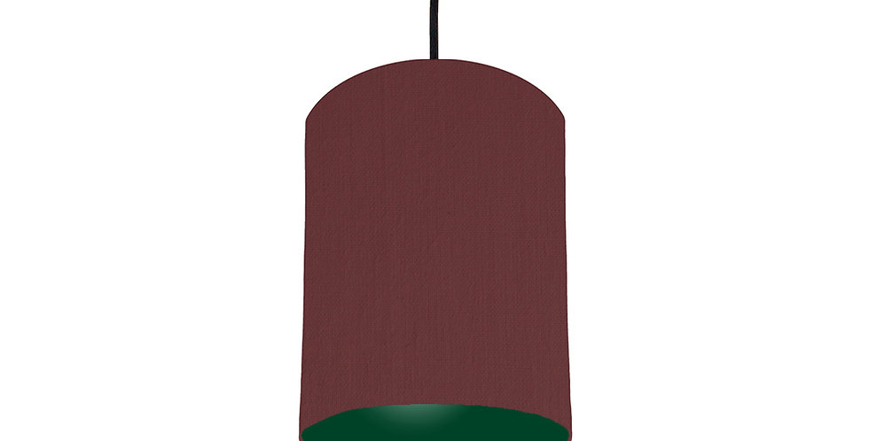 Wine Red & Forest Green Lampshade - 15cm Wide