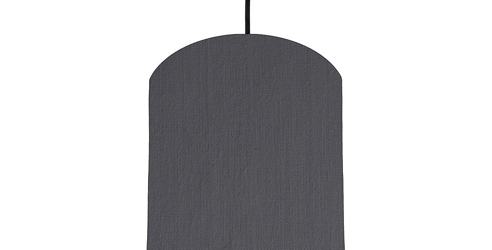 Dark Grey & Navy Lampshade - 20cm Wide