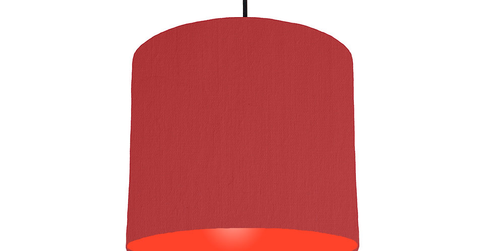 Red & Poppy Red Lampshade - 25cm Wide
