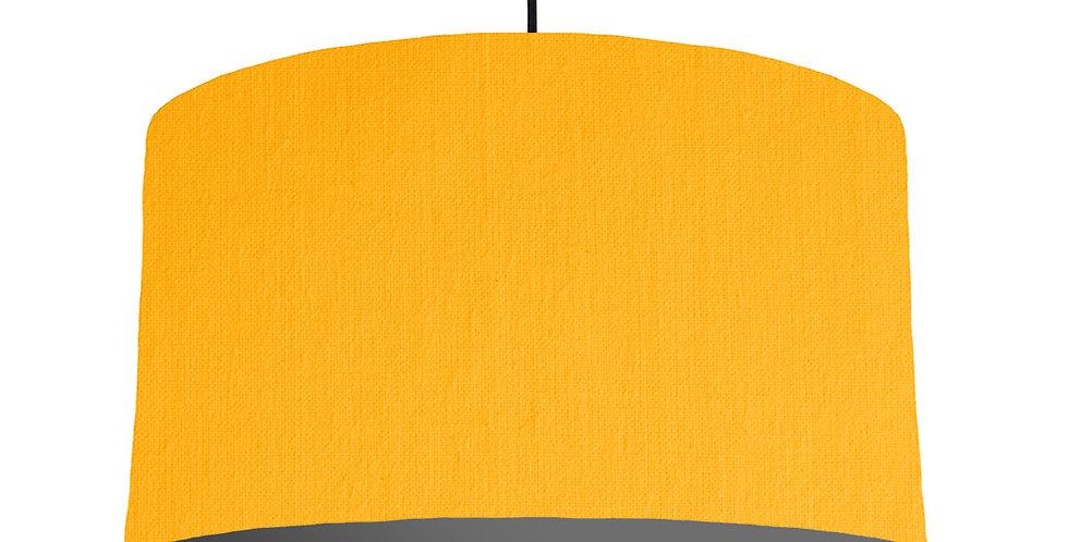 Sunshine & Dark Grey Lampshade - 50cm Wide