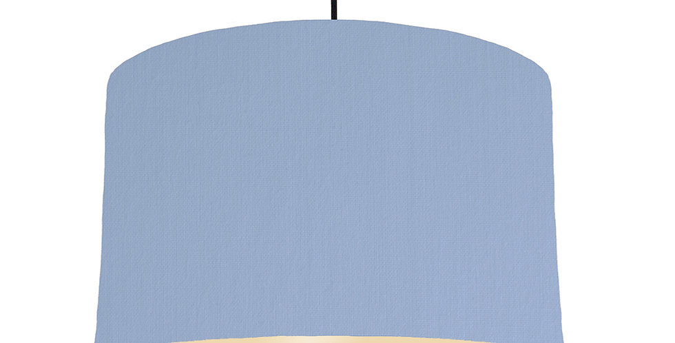 Sky Blue & Ivory Lampshade - 40cm Wide
