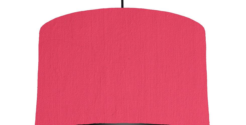 Cerise & Black Lampshade - 40cm Wide