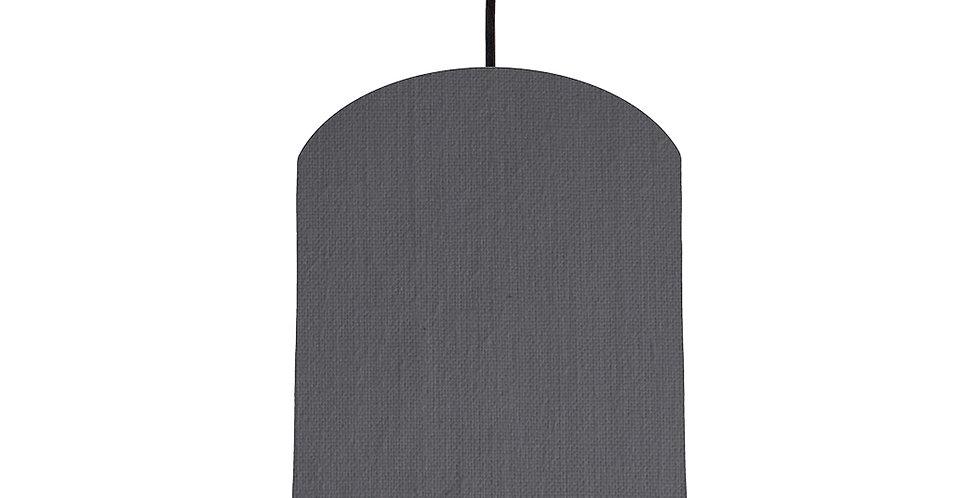 Dark Grey & Brushed Silver Lampshade - 20cm Wide