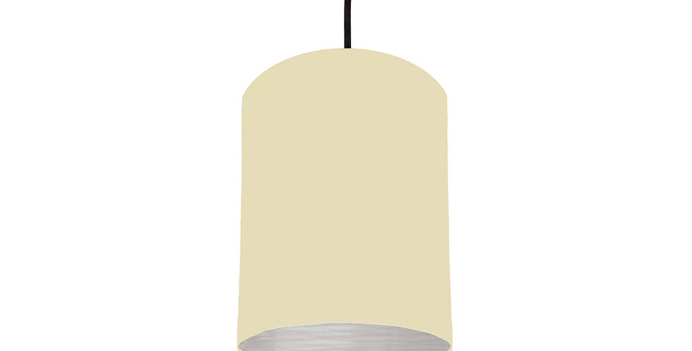 Natural & Brushed Silver Lampshade - 15cm Wide