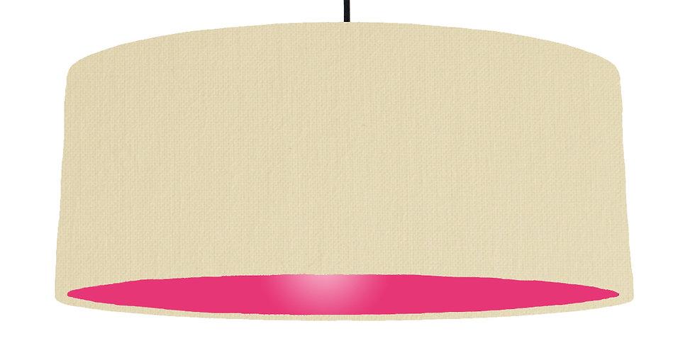 Natural & Magenta Lampshade- 70cm Wide