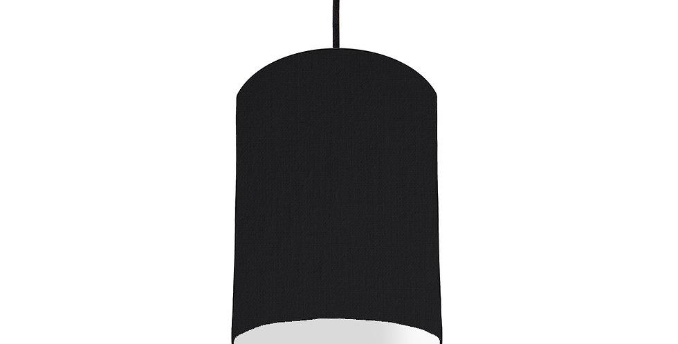Black & Light Grey Lampshade - 15cm Wide
