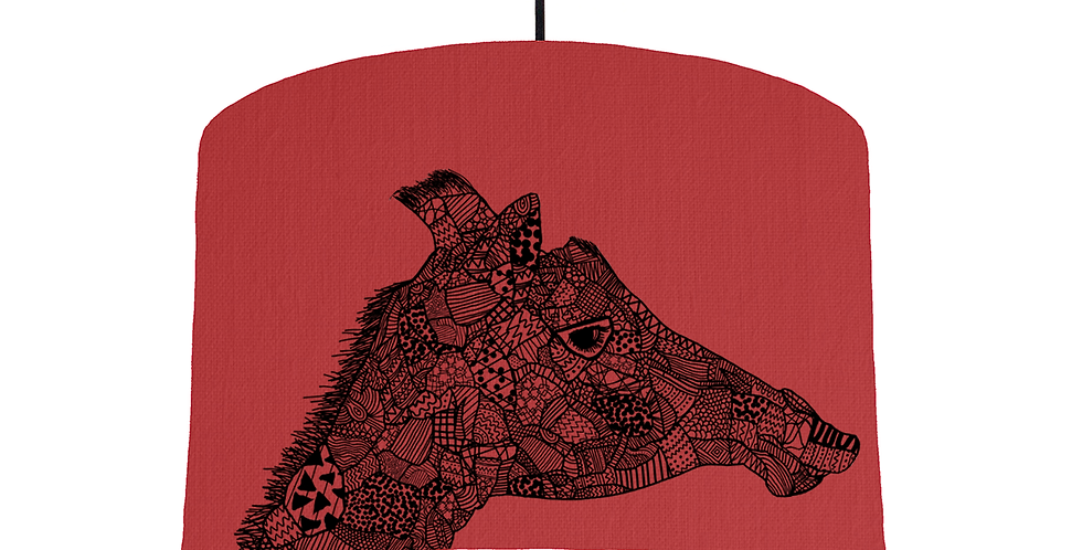 Giraffe - Red Fabric