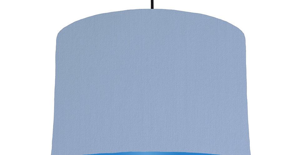 Sky Blue & Bright Blue Lampshade - 30cm Wide