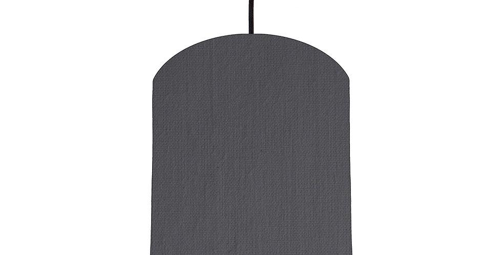 Dark Grey & Turquoise Lampshade - 20cm Wide