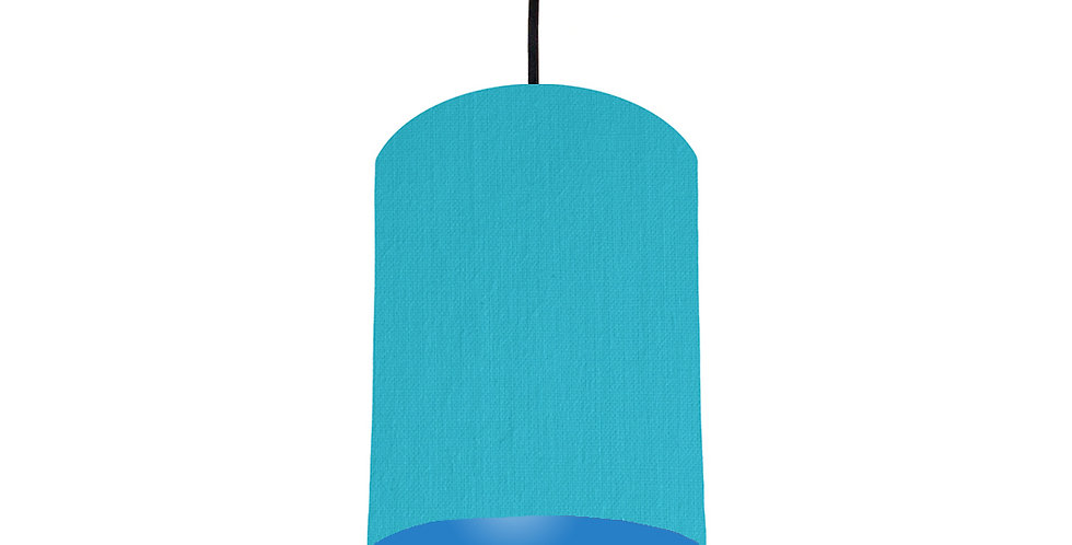 Turquoise & Bright Blue Lampshade - 15cm Wide