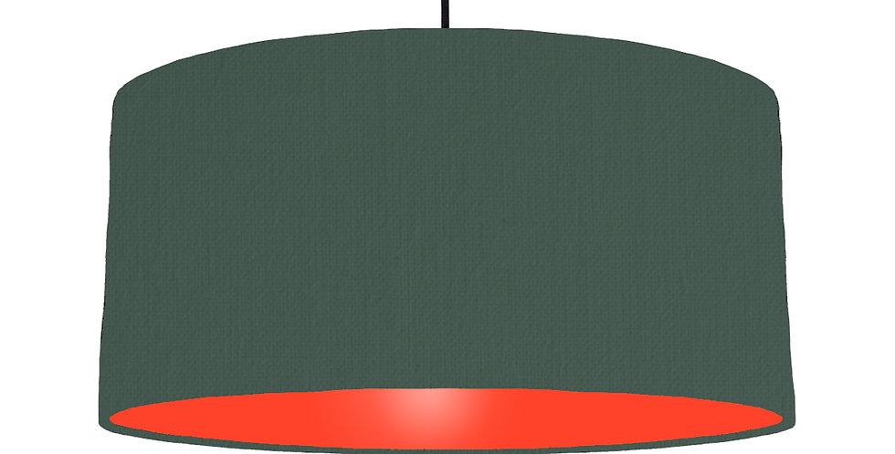 Bottle Green & Poppy Red Lampshade - 60cm Wide