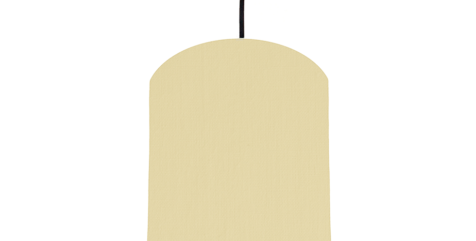 Natural & White Lampshade - 20cm Wide