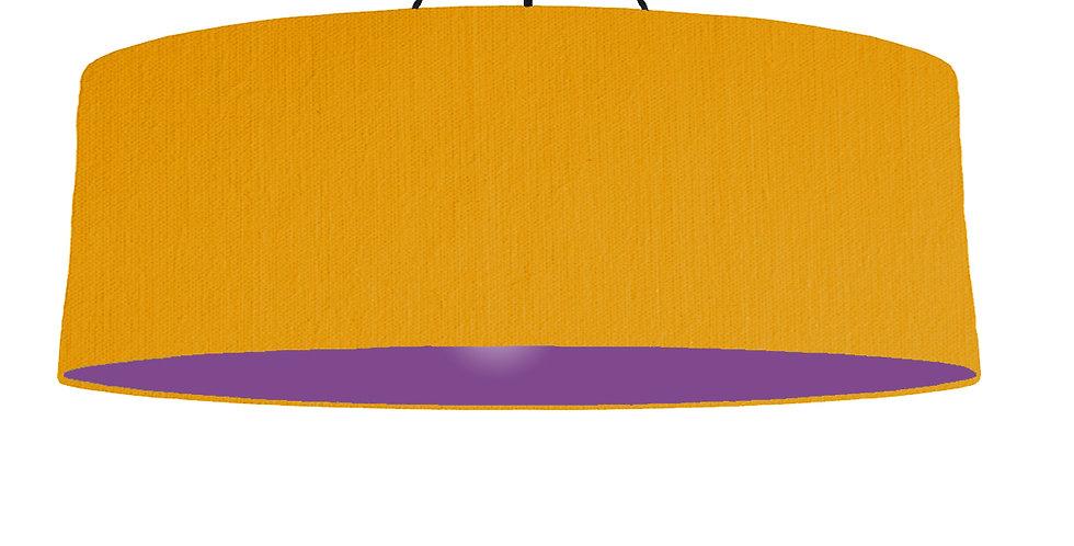 Mustard & Purple Lampshade - 100cm Wide