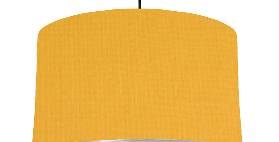 Sunshine & Brushed Silver Lampshade - 50cm Wide