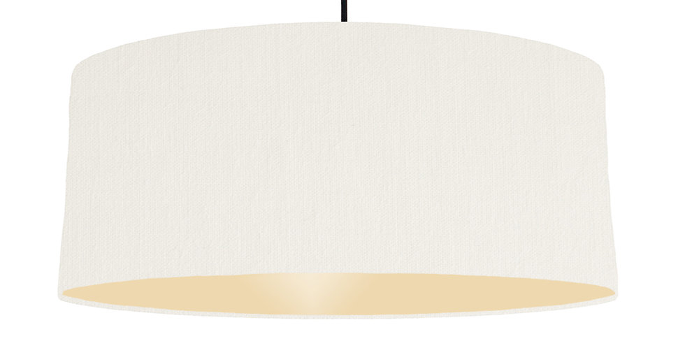 White & Ivory Lampshade - 70cm Wide