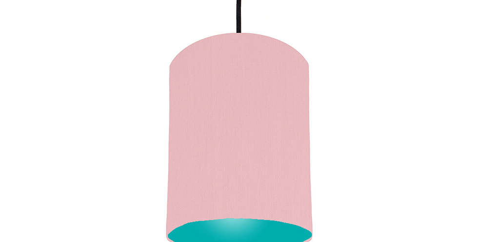 Pink & Turquoise Lampshade - 15cm Wide