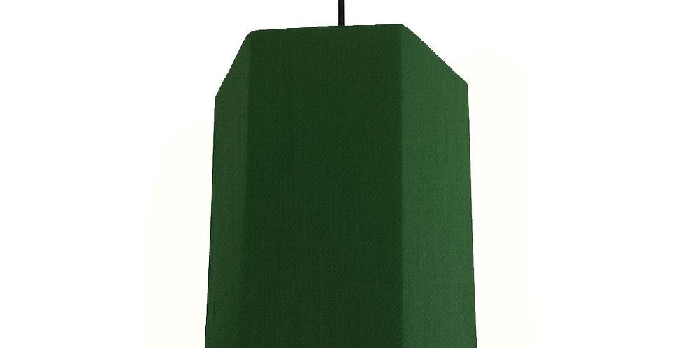 Bottle Green & Gold Mirror Hexagon Lampshade - 20cm Wide