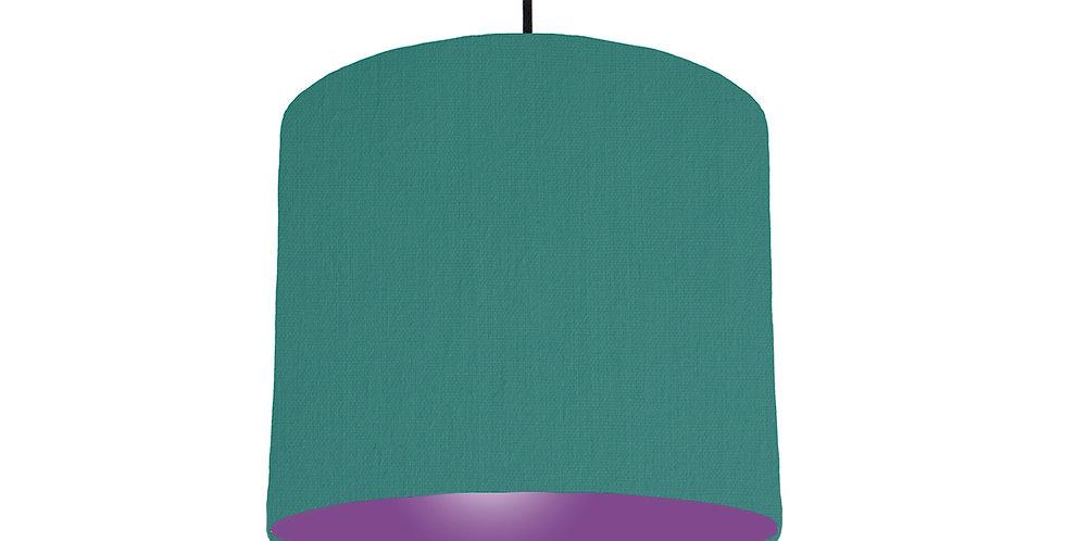 Jade & Purple Lampshade - 25cm Wide