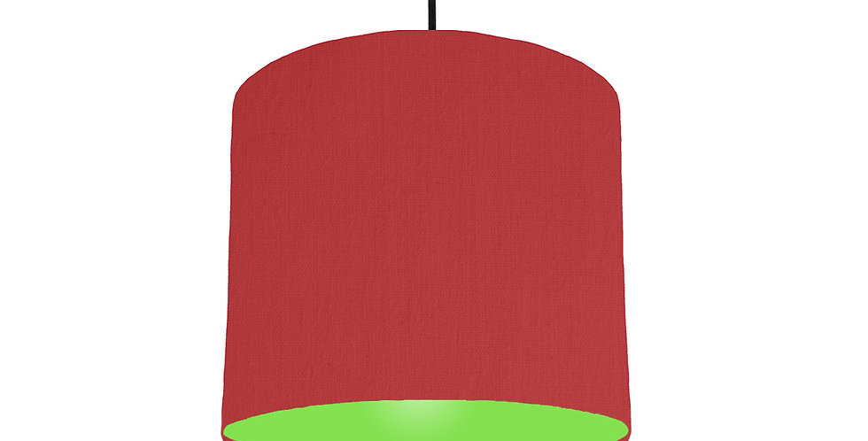 Red & Lime Green Lampshade - 25cm Wide