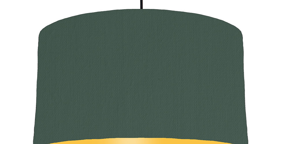Bottle Green & Butter Yellow Lampshade - 50cm Wide