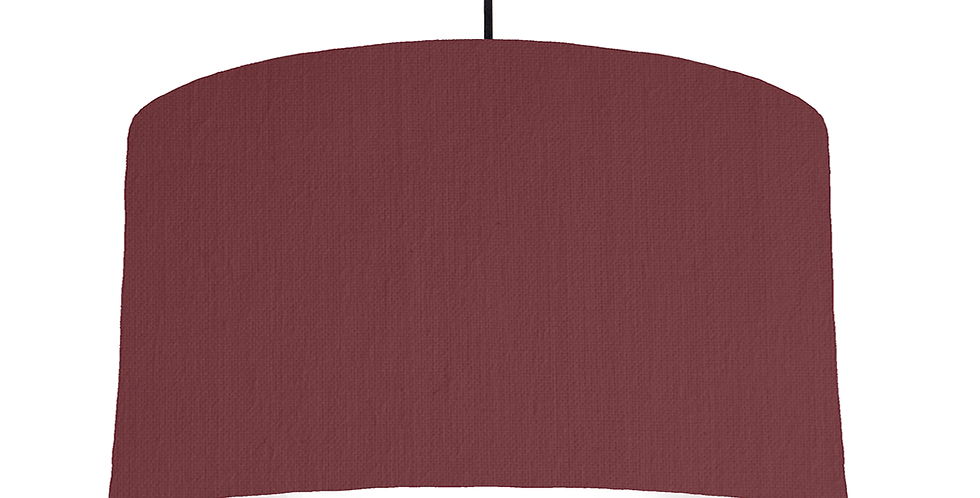 Wine Red & White Lampshade - 50cm Wide