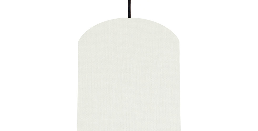 White & Mint Lampshade - 20cm Wide