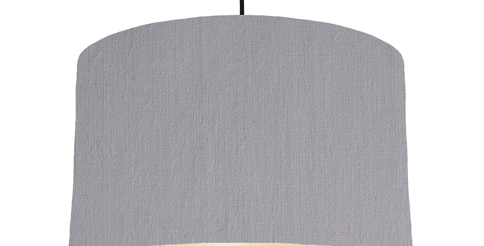 Light Grey & Ivory Lampshade - 40cm Wide