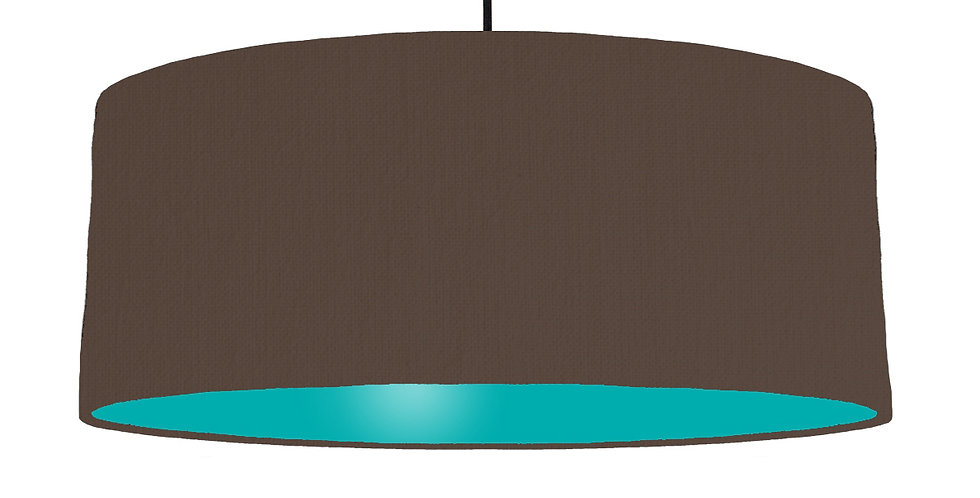 Brown & Turquoise Lampshade - 70cm Wide