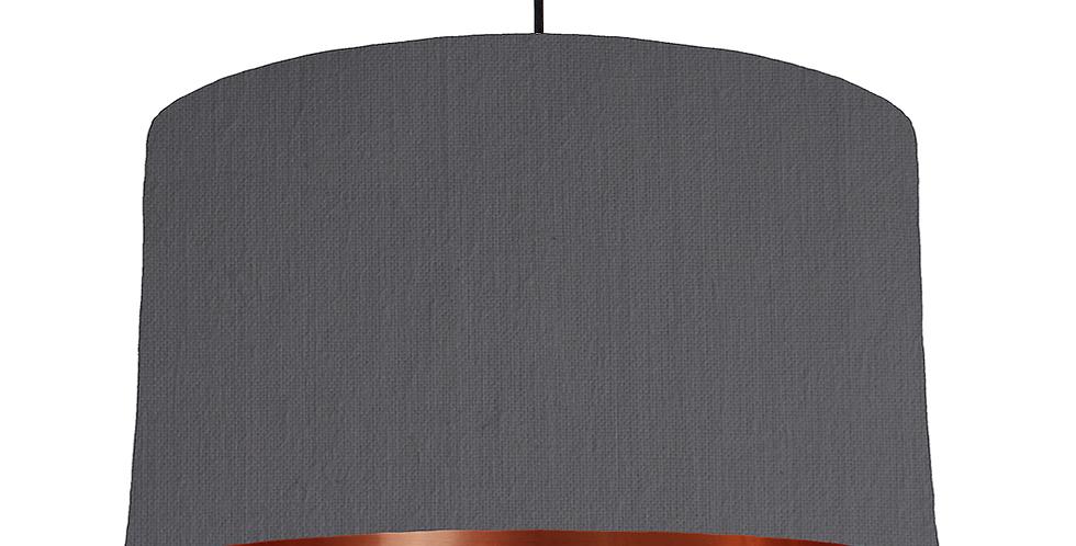 Dark Grey & Copper Mirrored Lampshade - 50cm Wide