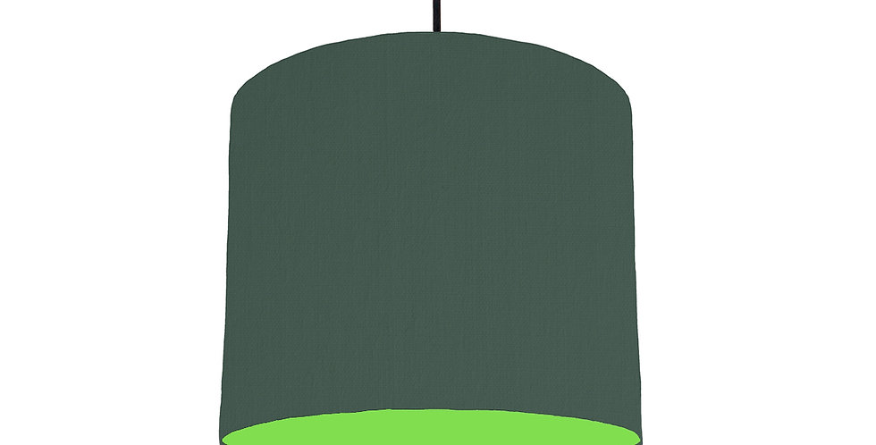 Bottle Green & Lime Green Lampshade - 25cm Wide