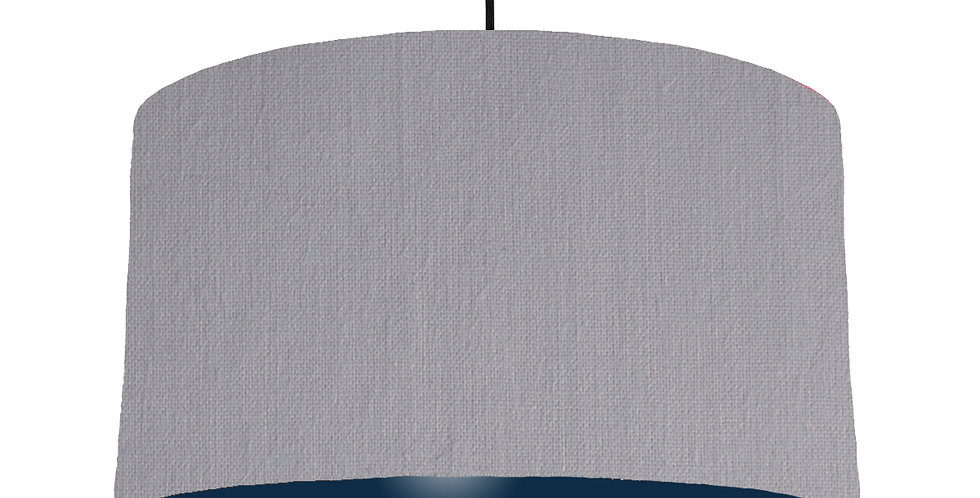 Light Grey & Navy Lampshade - 50cm Wide