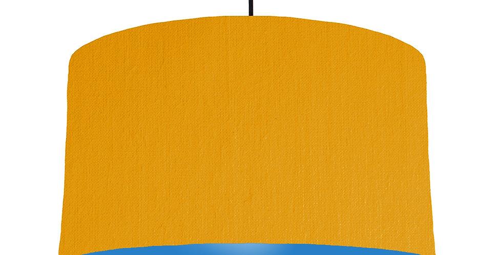 Mustard & Bright Blue Lampshade - 50cm Wide