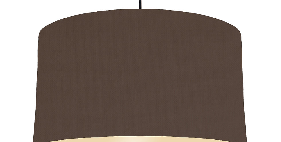 Brown & Ivory Lampshade - 50cm Wide