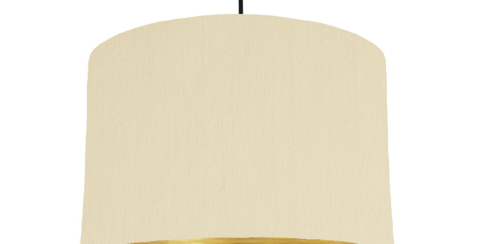 Natural & Brushed Gold Lampshade - 30cm Wide