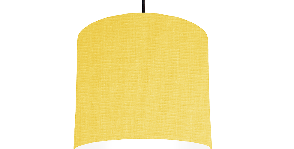 Lemon & White Lampshade - 25cm Wide