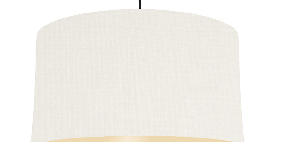White & Ivory Lampshade - 50cm Wide