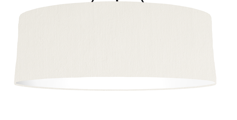 White & White Lampshade - 100cm Wide