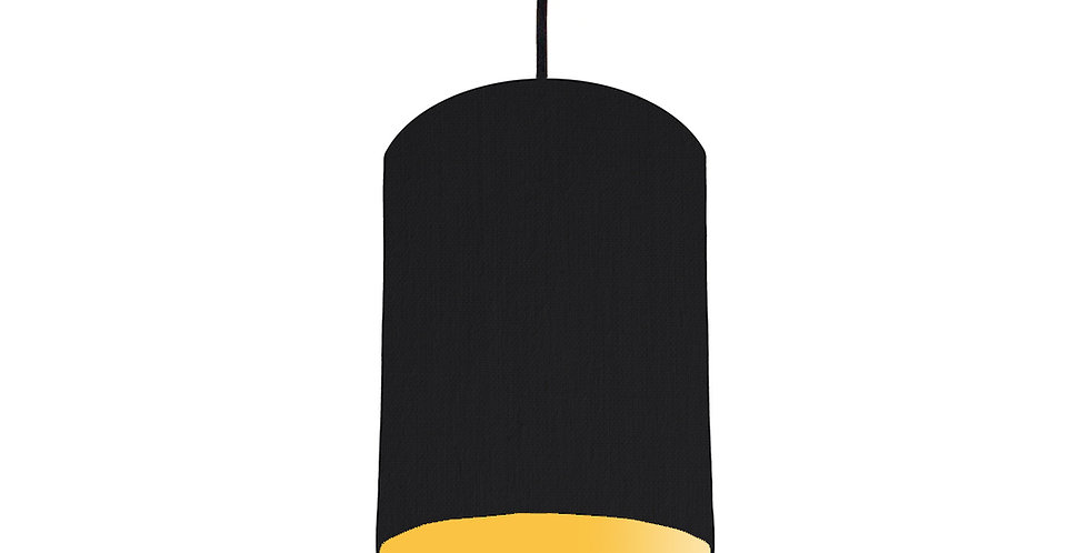 Black & Butter Yellow Lampshade - 15cm Wide