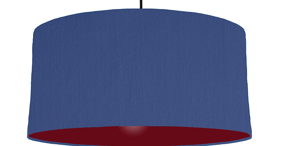 Royal Blue & Burgundy Lampshade - 60cm Wide