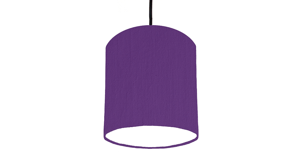 Violet & White Lampshade - 15cm Wide